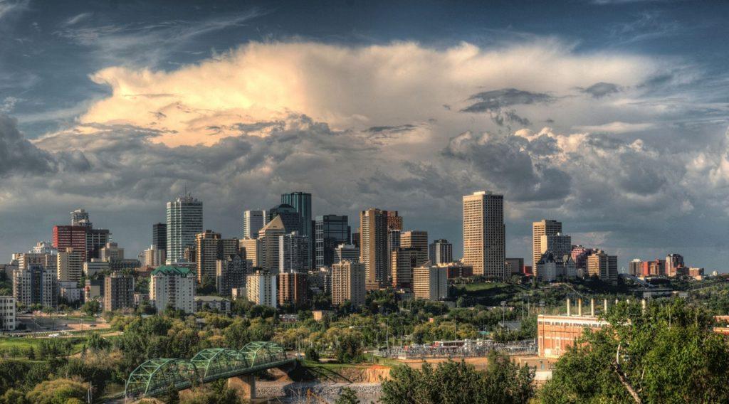 US City Downtown Skyline Buildings